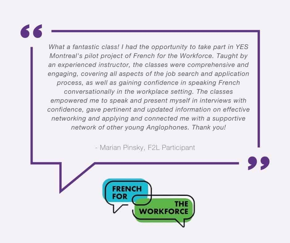 French for the workforce testimonial